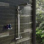 Bar Valve Shower System – Square Shower Head – Thermostatic – Contemporary – Tetra