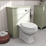 Camberley Back To Wall Toilet Unit – Sage – With Winchester Toilet – Traditional