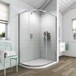 Offset Quadrant Shower Enclosure 1000 x 800mm – 6mm Glass – Single Door
