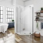 Pentagonal Shower Enclosure – 900 x 900mm – Includes Tray – Right Handed