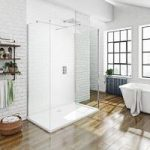 Mode 3 Sided Walk In Shower Enclosure Pack – Stone Tray 1700 x 800mm