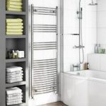 Heated Towel Rail – Chrome – Contemporary – Curved – 1650 x 450mm