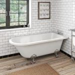 The Bath Co. Dulwich Freestanding Shower Bath – Roll Top – Traditional – Acrylic
