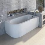 Cayman D Shaped Bath – 1700 x 750 – Right Handed – Includes Panel – Single Ended – Mode