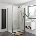 Levien Sliding Shower Enclosure – Easy Clean – 1400 x 800mm – Right Handed – Rectangular
