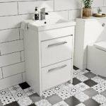 Vanity Unit – White – Floor Standing – 500mm – Includes Basin – Smart